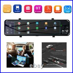 1080P 12 inch Android 8.1 Dual Lens Car GPS Rearview Mirror Dashcam Recorder