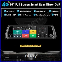 10 inch Full screen IPS Touch 4G Car DVR Dash Cams Android 5.1 rear view mirror
