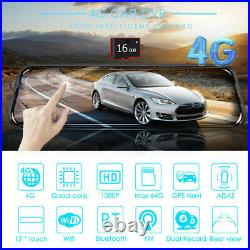 10inch Full HD 1080P Car DVR Rear View Mirror Recorders Camera Touch Screen