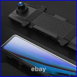 12'' SONY 4K GPS Mirror Car Dash Cam Touch Screen Dual Front and Rear Camera VAT