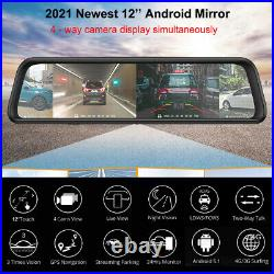 360° Panoramic Android Car DVR Camera 4 Channel Dashboard Center console Mirror