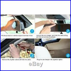 3G WIFI 7 Inch Full HD 1080P Car Rearview Mirror DVR withReversing Camera Dash Cam