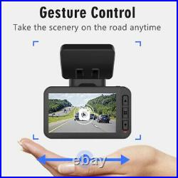 4K Ultra HD Wide Angle + Rear Car DashCam Camera DVR built in GPS & NightVision
