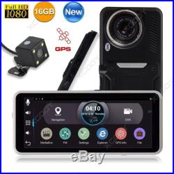 7 Full HD 1080P Android Car DVR Dual Lens Rearview Camera Recorder Vehicle GPS