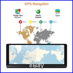8 Full Touch IPS Android 5.1 GPS FHD 1080P HD Car DVR BT WIFI/4G FM Transmitter