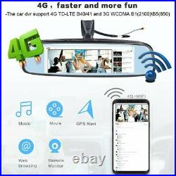 Android car Rearview Mirror Backup camera 4G WIFI Dash Cam dual lens Front Rear