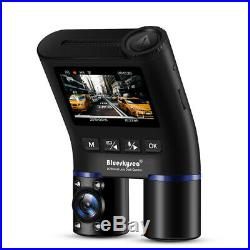 B2W Dual Channels Front + Inside 1080P 30FPS Infrared Wifi GPS Car Dash Cam DVR
