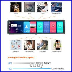 Car DVR Android 8.1 Rearview Mirror reversing camera Wifi Dash Cam video record