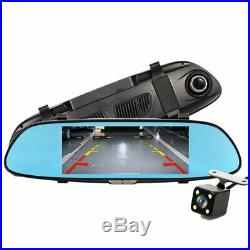 Car DVR Full HD 1080P 7.0 Inch IPS Touch Video Recorder Camera Dual Lens + Rear