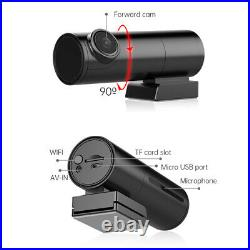 Car Dash Camera Front And Rear Wireless Wifi Night Vision Gps Dual Lens Pro FHD