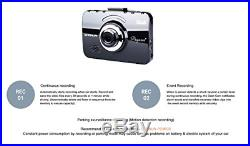 Chanun Pegasus+ Touch Car DVR Dash Cam Full HD 1080P 2 channels/Front and Rear /