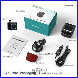 Dash Cam Full HD 1080P Car DVR with WiFi and 6-Lane 170° Wide Angle Lens, Dual