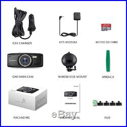 Dash Cam With GPS AUTO VOX D1 Dashboard Camera Full HD 1080P 2.7-Inch Car Record