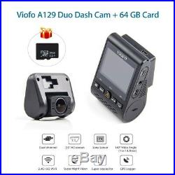 Front & Rear Viofo A129 Duo F1.6 Wi-Fi Mini Car DVR with GPS Mount + Free 64G Card