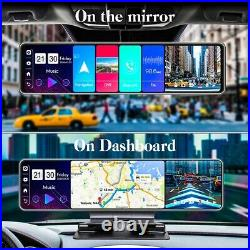Full HD 12in Android 8.1 Car DVR 4G Dash Camera Rear view Mirror Video Recorder