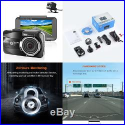 HP Dual Dash Cam For Car In Camera DVR Full HD 1080P 3.0'' LCD Dashboard Front &