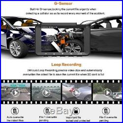 HP Dual Lens Dash Cam for car Full HD 1080P Channel Front & Rear DVR