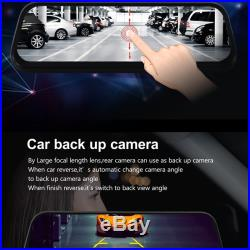Hd 8.5 Inch Full press Ips Screen Car Dvr Mirror Monitor With Double Record