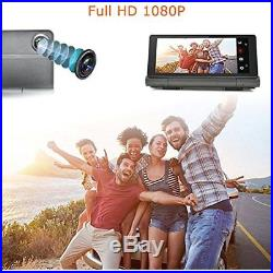 InDash Navigation 4G Android 5.0 Car GPS Full HD Dual Lens Camera 1080P With DVR
