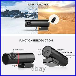Mini Car DVR dual cameras for front and rear WiFi GPS DashCam video Recorder 2K