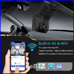New 4G Dash Cam with IR Night Vision Inside Android WiFi GPS Tracking Dual Car DVR