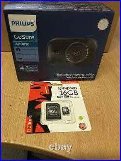 Philips GoSure ADR820 Dash Cam With Hard wire Kit & Free 16Gb SD Memory Card
