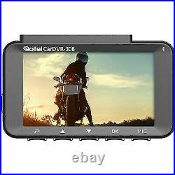 ROLLEI 40134 CarDVR-308, Full HD Dashcam Color TFT-LCD Display