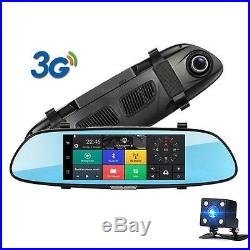 Smart 3G Car DVR Android Rearview Mirror Camera GPS navigation Bluetooth WIFI