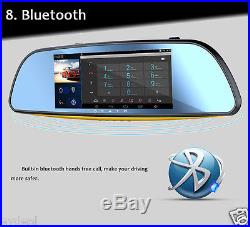 Smart Android 7 Full HD Rear View Mirror GPS WIFI Car DVR Dual Camera Recorder
