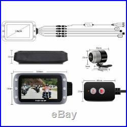 WiFi Motorcycle DVR Dash Cam Full HD Front Rear View